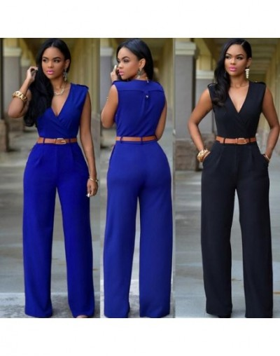 women jumpsuit romper 2018 Autumn Summer elegant party Cut out bodycon playsuits long sleeve zipper overall WF669 - Sky Blue...