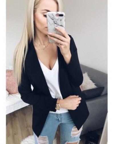 2019 New Fashion Women Casual Suit Coat Business Blazer Long Sleeve Jacket Outwear - Black - 4R3079139315-1
