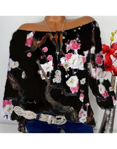 Women Shirts Autumn Casual Elegant Slash Neck Blouse Women Chiffon Top Camisa Feminina Long Sleeve Ladies Blouse Shirt - Bla...