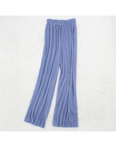 Summer Women's Pants Pleated Wide Leg Pants Loose Casual Long Streetwear Trousers Pantalones Mujer Elastic Waist Pantalon Fe...