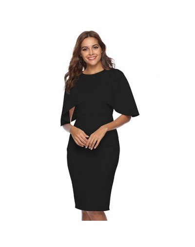 Women Elegant Ruffle Sleeve Ruched Pinup Vestidos Party Wear To Work Fitted Stretch Slim Wiggle Pencil Sheath Bodycon Dress ...