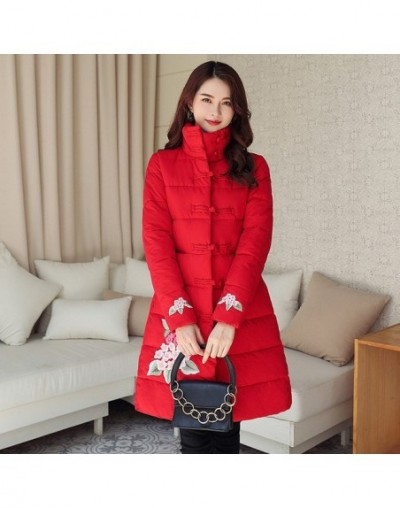 Winter women jackets coat 2019 folk-custom thick warm Tang suit style stand collar jackets sintepon coats female outwear - R...