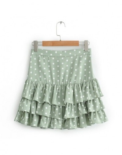 Polka Dot Print Ruffle Women's Mini Skirt High Waist Boho Female Skirts 2019 Summer Casual Beach Style Soft Ladies Short Bot...