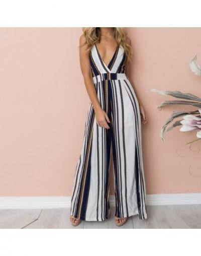 2019 Womens ladies boho Print jumpsuit romper Strappy Holiday Long Playsuits Trouser Jumpsuit rompers womens jumpsuit clothe...