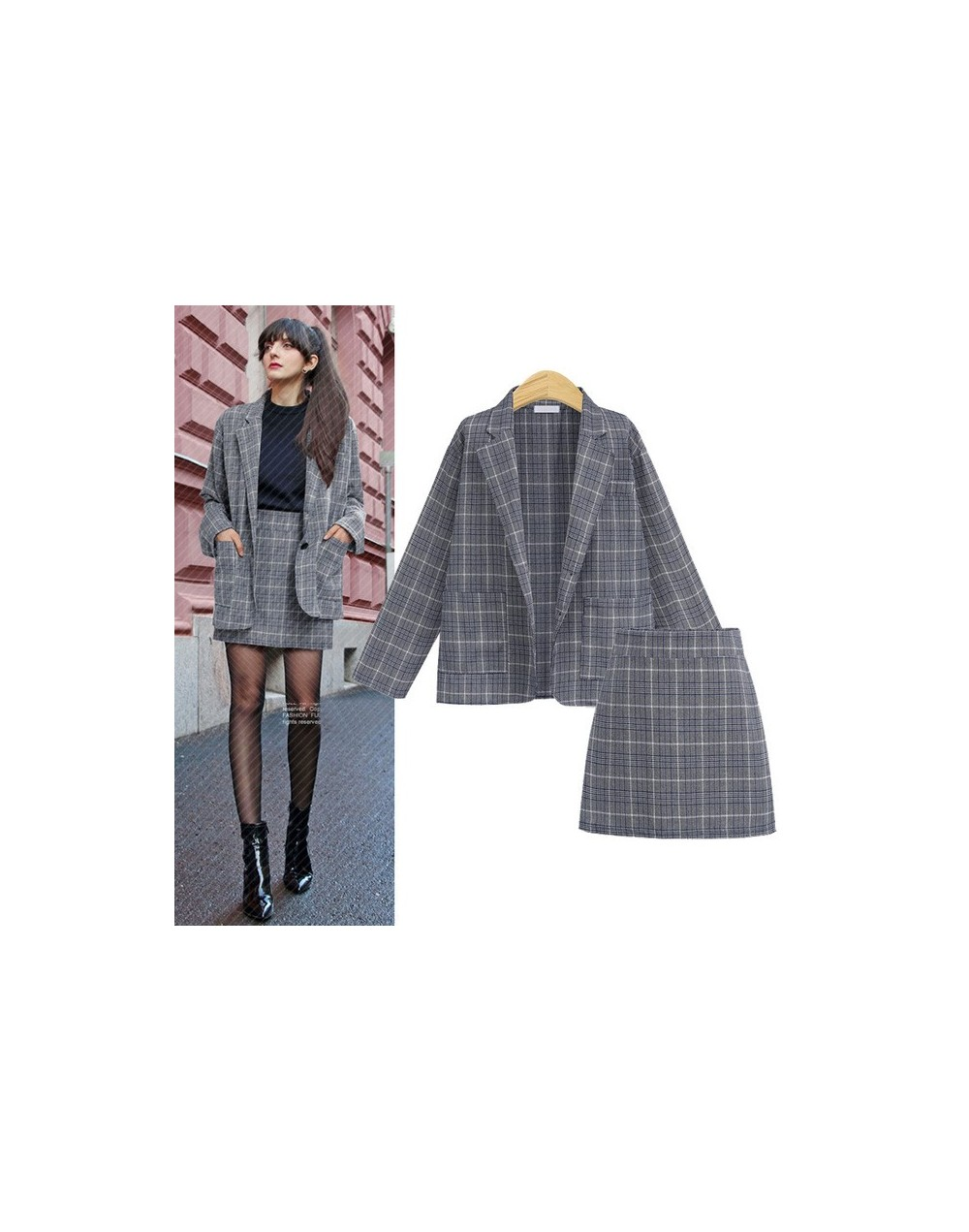 Women Office Uniforms 2019 New Plus Size Women's Suit Skirt Suit Long Sleeve Clothing Women Work Outfits Complete Office Out...