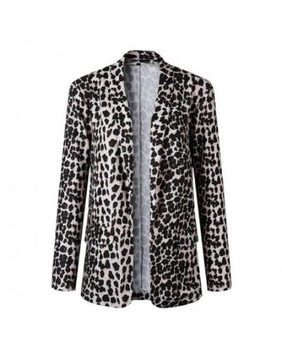 Ladies Blazer Woman 2018 Work Wear Leopard Snake Print Suit Jacket Office Lady Women Blazers and Jackets Female Blazer Femme...