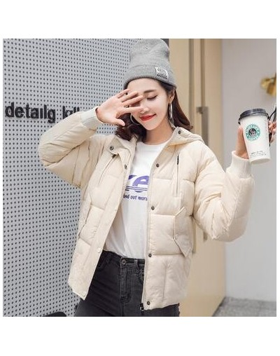 Winter Down Jacket Women Loose Casual Hooded Coat Female Outwear 2019 New Arrival Solid Color Womens Cotton Padded Parka - O...