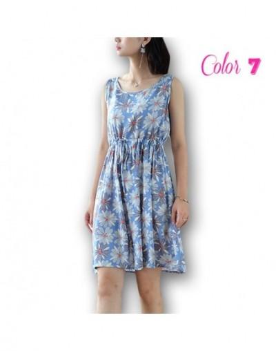 Sleevele Summer Women Mini Dress 2019 New Boho Beach Loose Dresses Female Casual Flower Print A-line Mini Party Dress Vestid...