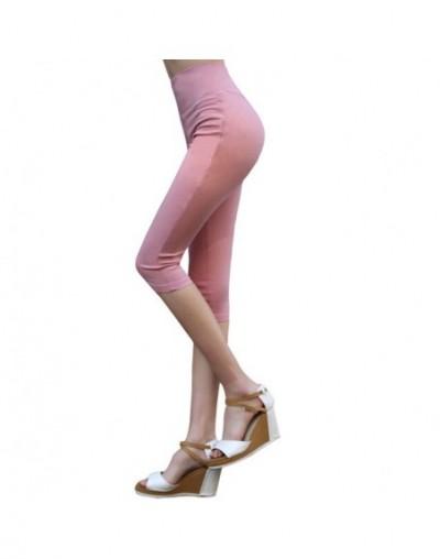 Super Stretch Leggings Summer Women's Knee Length Pants High Waist Elastic Skinny Pencil Pants Plus Size Trousers 4xl 5xl 6x...