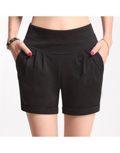 2017 Summer Stretch Shorts Women Casual High Waist Shorts for Female Fat Plus Size Woman Clothing Beach Women's cotton Short...