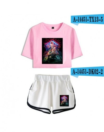 New Stranger Things two piece set Leisure hit hop 2 Piece Set women tracksuit women Shorts+lovely T-shirts Hot Sale Clothes ...