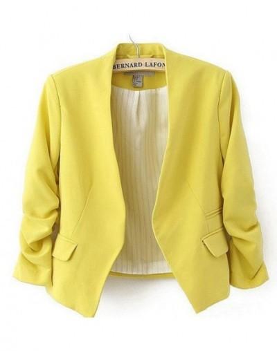 Women Blazers and Jackets 2018 Pink Short Candy Color Blazer Office Ladies Jacket Blazer Feminino Women's Tops Blazers Mujer...