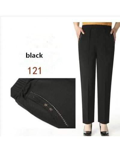 High elastic breathable comfortable Capris Pants Mother Clothing Casual Capris Plus Size Summer Women'S Plus Size Loose M-5X...