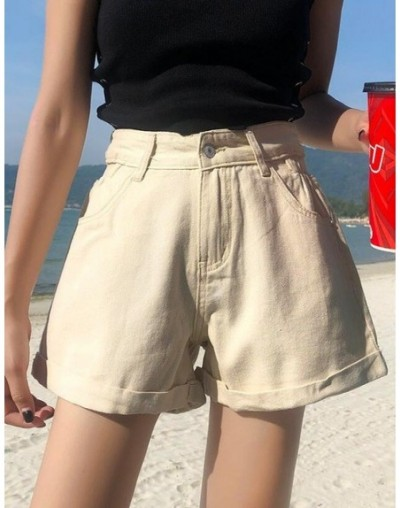 Fashion Streetwear Summer Women Denim Shorts Stretch High Waist Short Jeans Feminino Crimping Loose Wide Leg Black Booty Sho...