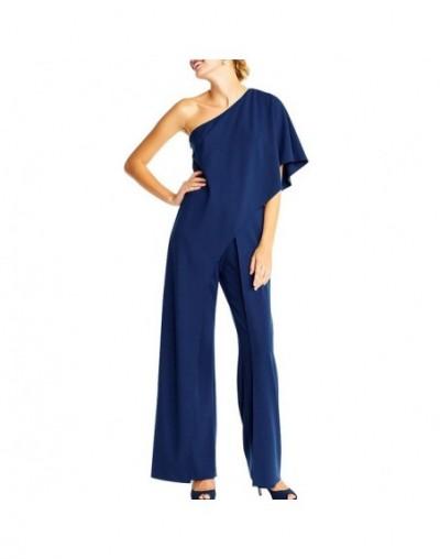 Slash Neck Rompers Womens White Jumpsuit Long Wide Leg Pants Slash Neck Solid Jumpsuit Elegant Party Bodycon Vrouwen Jumpsui...