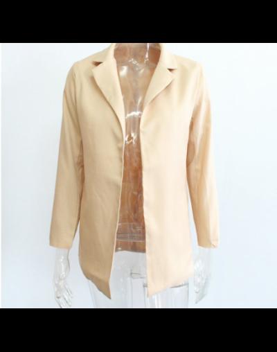 Hot Fashion Women Outwear Suit Business Long Sleeve Blazer - Khaki - 4W3029267964-2
