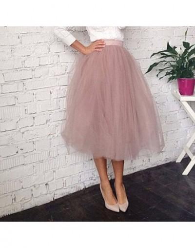 Trendy 2017 Rose Pink Soft Tulle Skirts 2017 For Lady Summer Fashion Tea Length Tutu Skirt Zipper Custom Made Saia Midi - Ar...