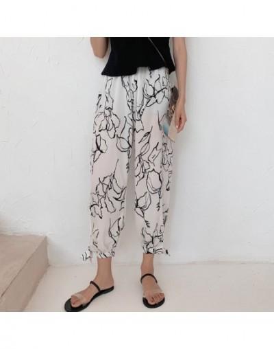Japanese Style Harajuku Wide Leg Pants WomanHoliday Style Chiffon Thin Section Nine Casual Pants Anti-mosquito Pants - Mash...