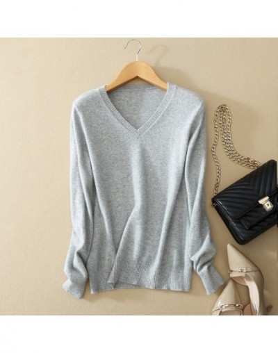 High Quality 2019 Autumn Winter Cashmere cotton Blended Knitted Women Sweaters And Pullovers Jersey jumper pull femme hiver ...