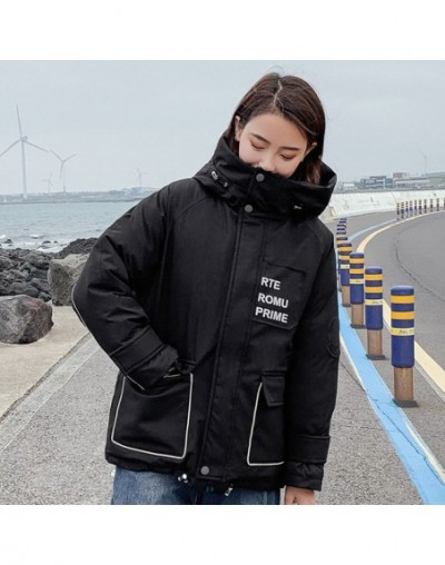 Winter women mid-long jackets Casual printed letters hooded parkas coat female winter thick warm loose sintepon outwear jack...