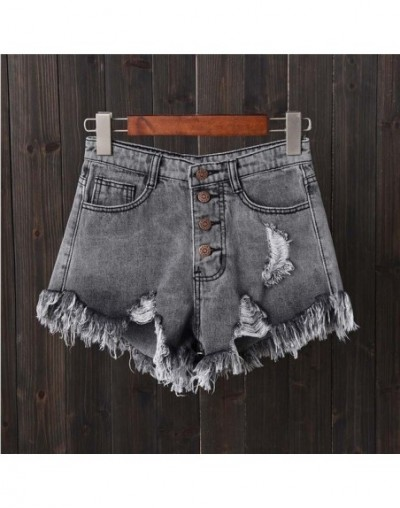 S-6XL Plus Size 2019 Women Casual Summer Denim Women Hole Shorts High Waists Hollow Out Sexy Short Jeans - A0294-938heihuise...