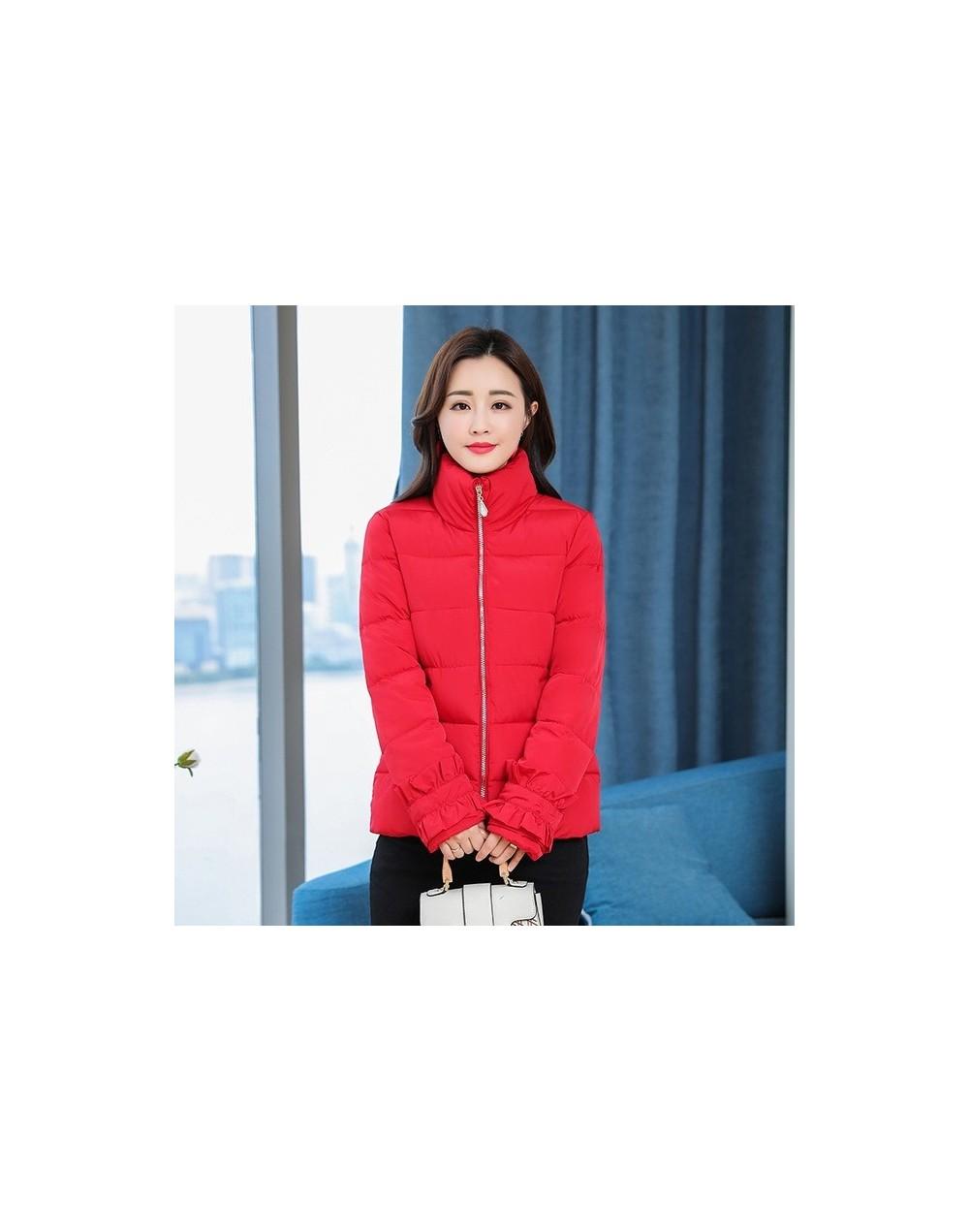 Autumn Girl's Winter coat L-3XL Women Parks Sleeves Women Winter Coat slim Female Outwear Woman Winter Jacket - Red - 4B3035...