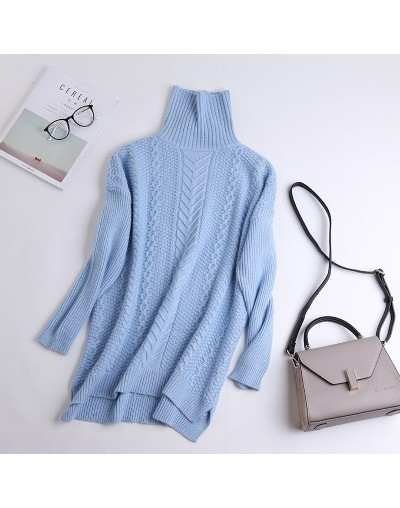 2019 new 100% pure cashmere sweater women winter thick pullover female turtleneck knitted pullover upscale outwear loose swe...