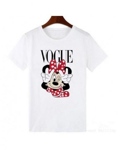 Women t-shirts Cartoon Middle Finger Print O-neck Striped t shirt Fashion Female t-shirt Crop Top - 450 - 2K063840564-3