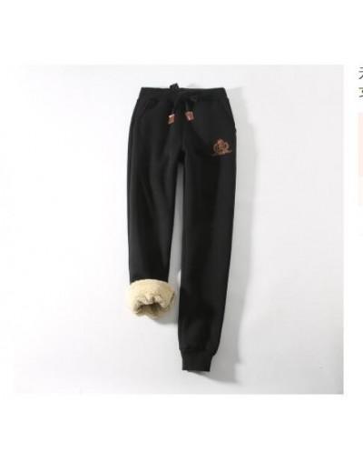 2019 Winter cotton pants lambskin sweatpants wool casual pants plus velvet thickening pants large size pants women Z211 - bl...