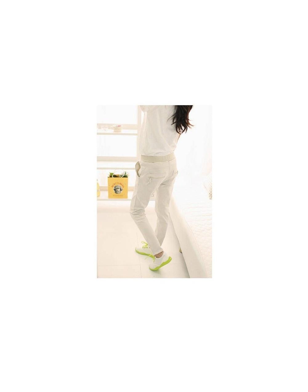 streetwear Harem pants trousers women linen leggings summer 2019 lady casual plus size stretch long slim pantalon femme - wh...