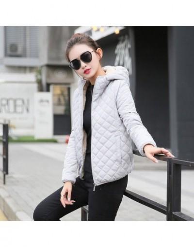 Autumn 2017 Parkas basic jackets Female Women Winter plus velvet lamb hooded Coats Cotton Winter Jacket Womens Outwear coat ...