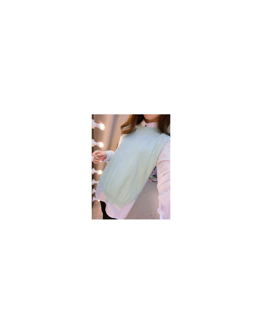 fashion casual women sleeveless cashmere sweater slim O-neck sexy knit pullovers vest loose solid high quality coat tops - M...