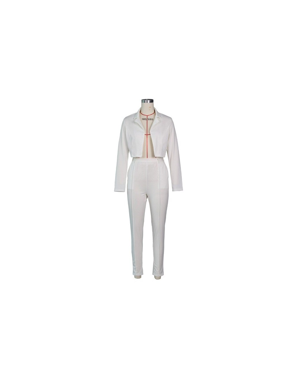 Neon Blazer Set Women Suits Office Sets Slim Sashes Cropped Blazer And Pants Suits Fall 2019 Ladies Suits 2 Pieces Set - Whi...