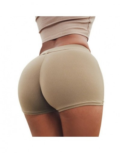 Solid Women Shorts Push Up High Waist Elastic Fitness Short Pants Tight Slim Sports Gym Workout Shorts For Women Girls - Bei...
