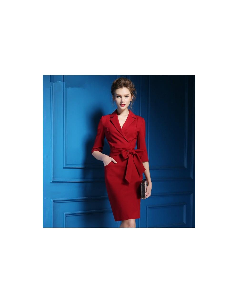 Elegant Women Suit Dress Fashion Casual Lace Up Notched Dress Suits Office Lady One Piece Dresses Business Work Long Blazers...