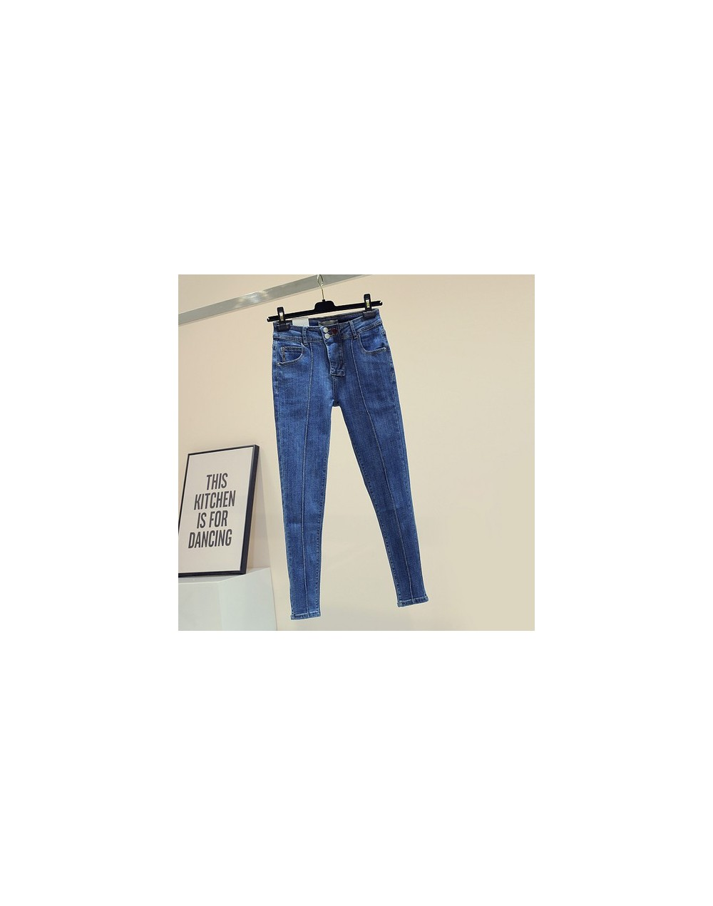 2019 Autumn Winter New New Slim Jeans High Waist Blue Denim Pants Ladies High Quality Stretch Jeans Pencil Pants Trousers - ...