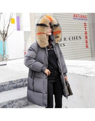 New 2018 Big Fur Collar Winter Jacket Women Parka Cotton Warm Down Parkas Hooded Coat Woman Clothes Plus Size chamarras de m...