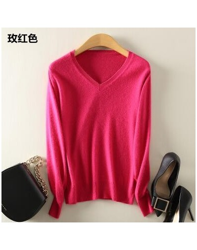 women cashmere sweater Fashion Autumn Cashmere Wool Kint Sweater Solid Slim Sexy Pullovers Coat Female Blouse Knit Sweater W...