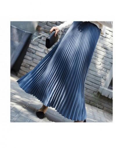 2019 Spring Women Skirt Vintage Long Pleated Skirt Saias Top Brand High Waist Women Maxi Skirt Saia Longa Falda Jupe - Blue ...