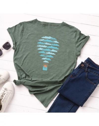 Plus Size S-5XL Weather Hot Air Balloon Print T Shirt Women 100% Cotton O Neck Short Sleeve Summer T-Shirt Tops Casual Tshir...