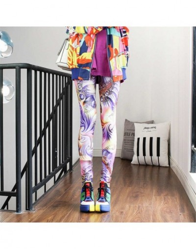 Fashion Leggings Sexy Casual Highly Elastic and Colorful Leg Warmer Fit Print Sporting Workout Athletic Leggins Pants Trouse...