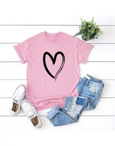 New Women Tshirts Simple Love Pattern 2019 Summer Female Short Sleeve Harajuku T Shirt Femme Tops 5XL Plus Size Graphic Tee ...