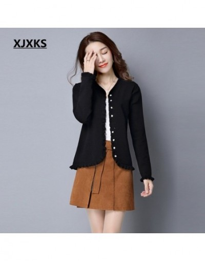 Original ruched design 2019 new product women cardigan sweater ladies single breasted stretch casual women sweater coat - Bl...