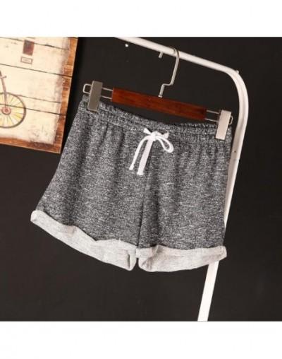 New Women Hot Shorts Summer Silk Slim Beach Casual Egde Shorts Solid Color Loose Mid Elastic Waist Sexy Shorts - dark grey 3...