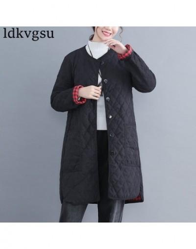 2019 Fashion Thick Cotton Linen Coat Autumn Winter New National Women's Retro Art Plus Size Loose Round Neck Long Jackets V2...