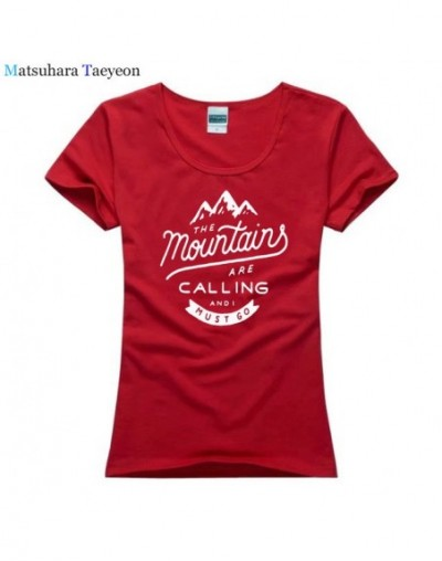 Fashion Summer The Mountains Are Calling Outdoorer T Shirt Hot Elling T-Shirt for Woman High Quality 100 % Cotton for Lady T...
