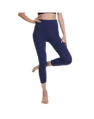 2019 women summer new arrivals fitness leggings female outdoor workout pants High waist Tummy Control pocket legging - blue1...