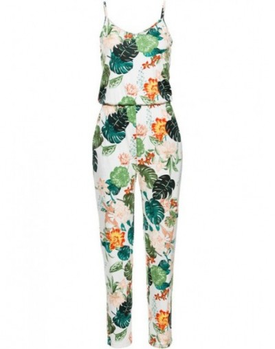 Sexy Sleeveless jumpsuit women long romper 2019 summer lady Fashion floral trousers beach jumpsuit coveralls sexy female fro...