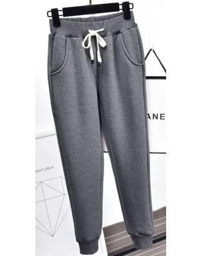 2019 winter new lamb plus size sweat pants plus velvet padded feet pants lamb wool casual pants women's trousers Z54 - deep ...