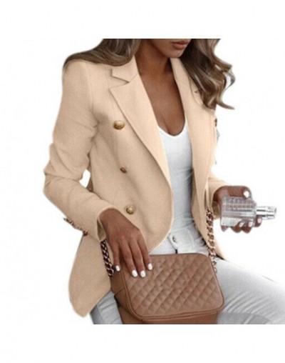 Women Collar Blazer Suit Thin Jacket Ladies Business Formal Coat Plus Size 5XL NFE99 - apricot - 5T111104824211-1